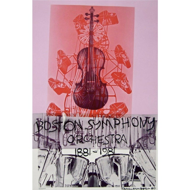 Abstract Expressionism Robert Rauschenberg Boston Symphony, 1980 Centennial Exhibition Poster 1981 For Sale - Image 3 of 3