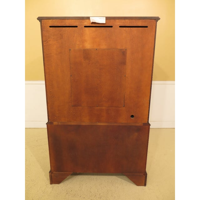 1990s Traditional Henkel Harris Mahogany TV Armoire For Sale - Image 9 of 12