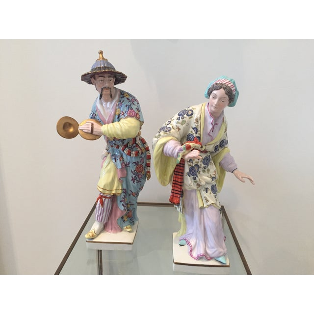 Chinoiserie Figurines by Chelsea House - Pair - Image 2 of 10