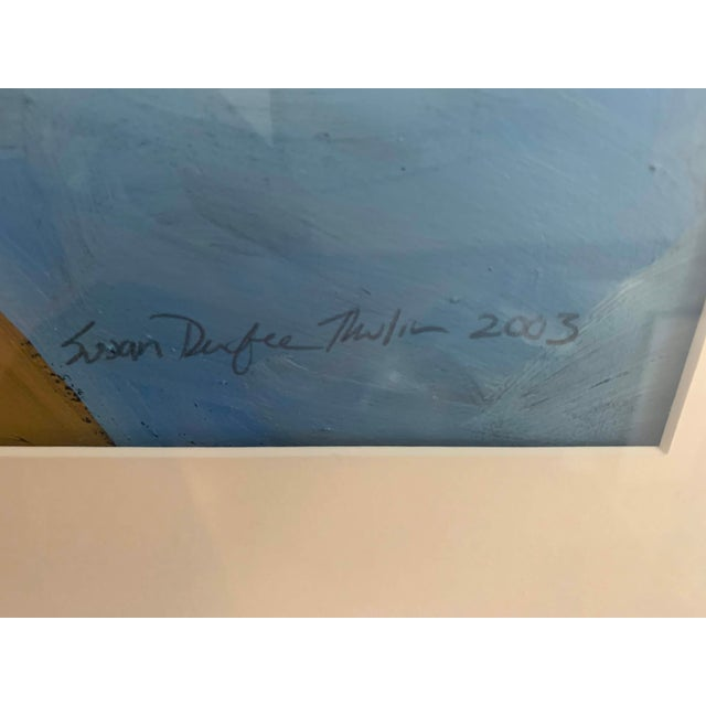 Susan Durfee Thulin 'Growing Boys' Large Framed Painting For Sale - Image 4 of 13