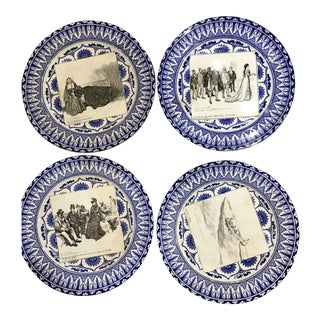 Antique Royal Doulton Gibson Girls Plates - Set of 4