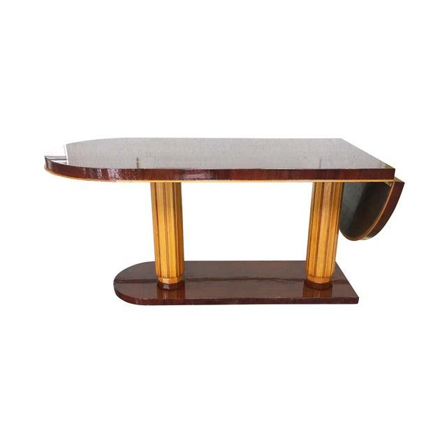 Art Deco Gilbert Rohde Art Deco Oval Drop-Leaf Desk For Sale - Image 3 of 13