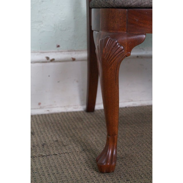 Ethan Allen 18th Century Collection Mahogany Side Dining Chairs - a Pair For Sale - Image 9 of 10