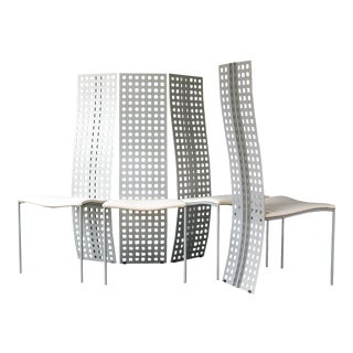 "Massimo & Lella Vignelli and David Law ""Serenissima"" Chairs- Set of 4 For Sale"