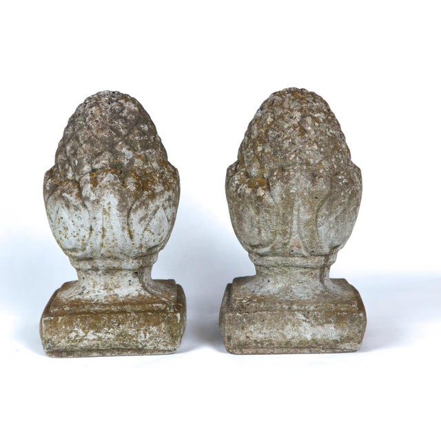 Pair of English Cast Stone Finials, Circa 1920 For Sale In New York - Image 6 of 11