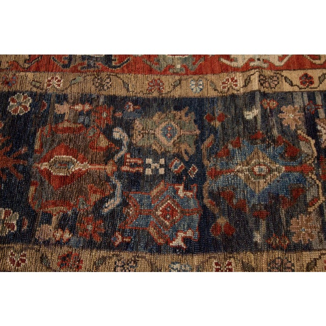 "Mid 20th Century Vintage Persian Tribal Bakshaish Rug, 3'3"" X 10'10"" For Sale - Image 5 of 11"