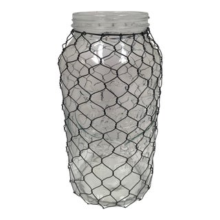 1956 Mid-Century French Wire-Wrapped Mason Jar