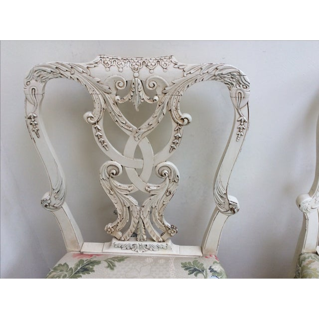 Chippendale English Country House Chairs - A Pair For Sale - Image 3 of 11