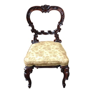 1830s Vintage Rococo Regency Rosewood Parlor Chair For Sale