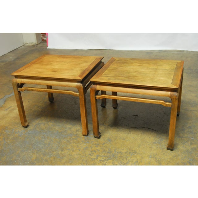 Chinese Carved Ming Style Occasional Tables - Pair - Image 3 of 8