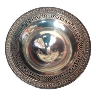 Antique 1920s Sterling Silver Candy Dish For Sale
