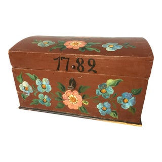 1782 Antique Swedish Chest For Sale