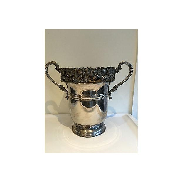 Ornate Silver Champagne Bucket For Sale - Image 5 of 5