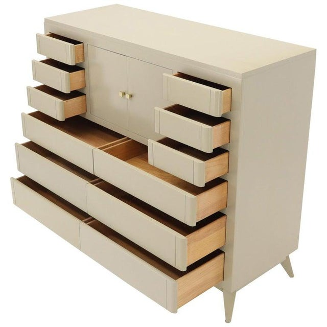 Multiple 12 Drawers Two Door Compartment Cube Shape High Wide Chest Dresser For Sale - Image 13 of 13