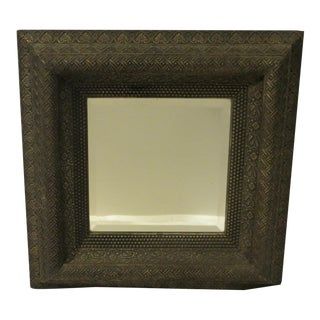 Vintage 19th Century Silvery Gray Frame With Mirror