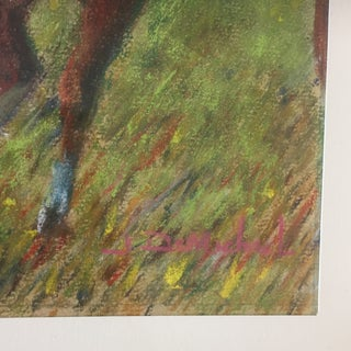 Vintage Pastel Horse & Jockey After Degas Painting Preview