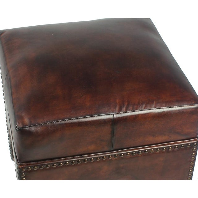 Traditional Sarried Ltd Dark Brown Giuseppe Footstool For Sale - Image 3 of 5