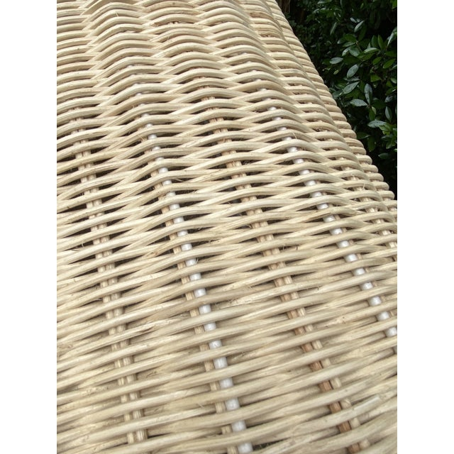 Natural Rattan Trompe l'Oeil Console Table For Sale - Image 9 of 13
