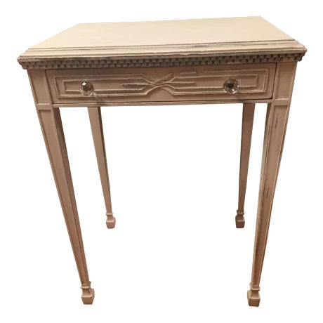 White Distressed Entry Table or Side Table - Image 1 of 5