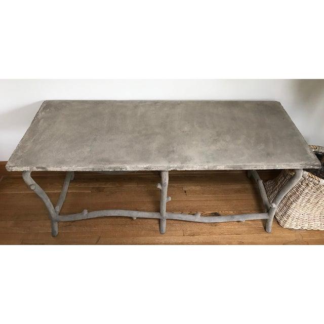 Faux Bois Concrete Table - Image 3 of 3