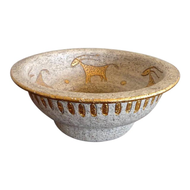 Bitossi Mid-Century Cave Painting Bowl For Sale