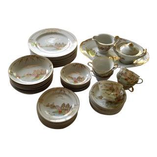 Kutani Meijyo China Dinnerware- 48-Piece Set