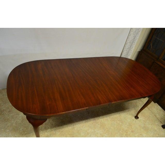 Henkel Harris Henkel Harris Solid Cherry Queen Anne Style Dining Table For Sale - Image 4 of 11
