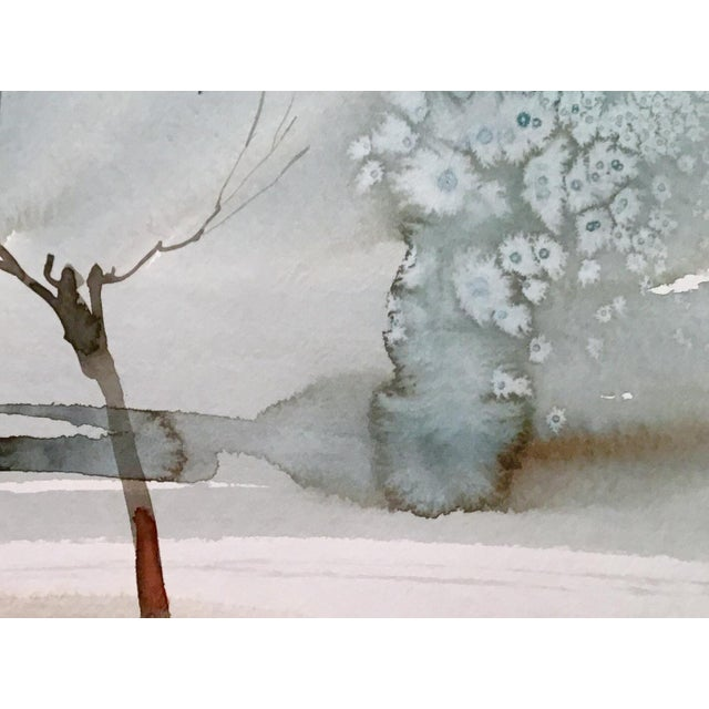 Original watercolor painting on strathmore paper. Landscape art.