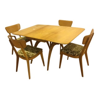 Mid-Century Heywood Wakefield Table and Chairs Dining Set For Sale