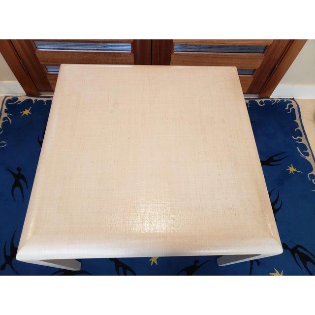 Mid-Century Modern Modern Harrison Van Horn Raffia Game Table For Sale - Image 3 of 9