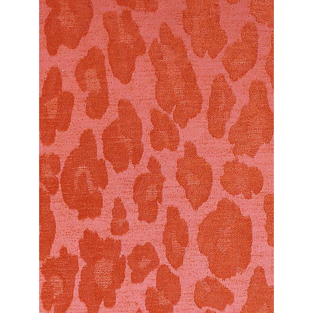Transitional Sample, Scalamandre Chita, Tangerine Fabric For Sale - Image 3 of 3