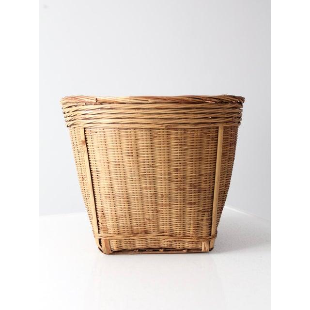 Vintage Woven Reed Basket - Image 3 of 10