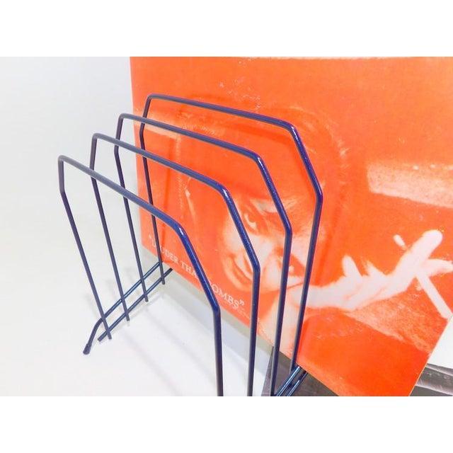 Slanted Navy Blue Metal Wire Desktop File For Sale - Image 4 of 7