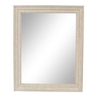 French Louis XIV Style White Painted Wall Mirror For Sale