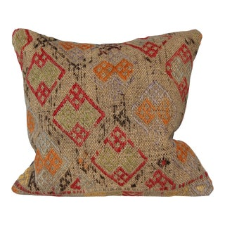 Handmade Vintage Kilim Pillowcase For Sale