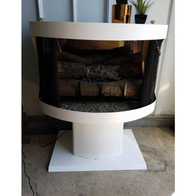Mastercraft Mid-Century White Metal Enamel Electric Fireplace For Sale - Image 11 of 11