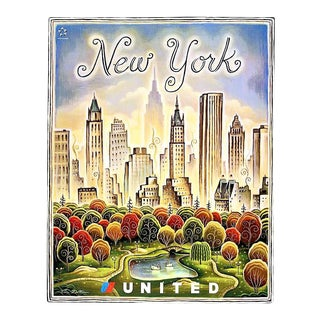 Matted and Framed Vintage New York Travel Poster