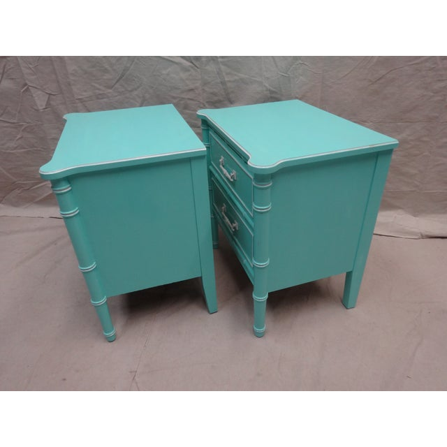 Vintage Bamboo Night Stands - Image 4 of 7