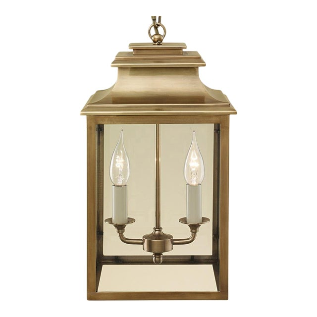 2 Candle Brass Lantern For Sale