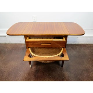 1960s Mid-Century Modern Drop Leaf Sewing Table Preview