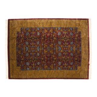 Vintage Indian Arts and Crafts Design Carpet - 9' X 12' For Sale