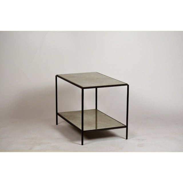 'Rectiligne' Mirrored End Tables by Design Frères - a Pair For Sale In Los Angeles - Image 6 of 9