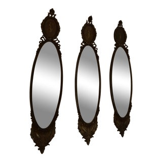 Antique French Wall Mirrors - Set of 3