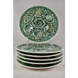 Mid-Century French Niderviller Mousse Oyster Plates, S/6 Preview