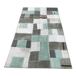 TurkishHandwoven Colourful Patchwork Hemp Rug