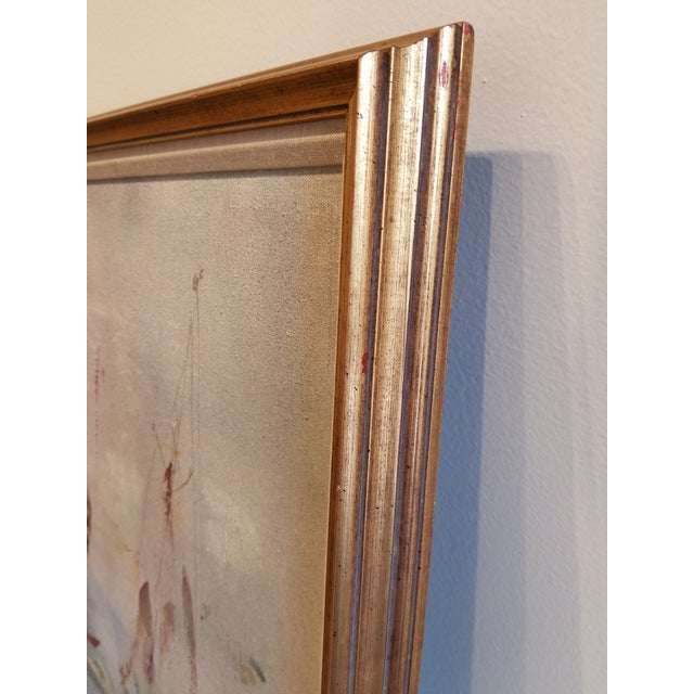 Mid 20th Century Pascal Cucaro Large-Scale Abstract Expressionist Oil Painting For Sale - Image 5 of 9
