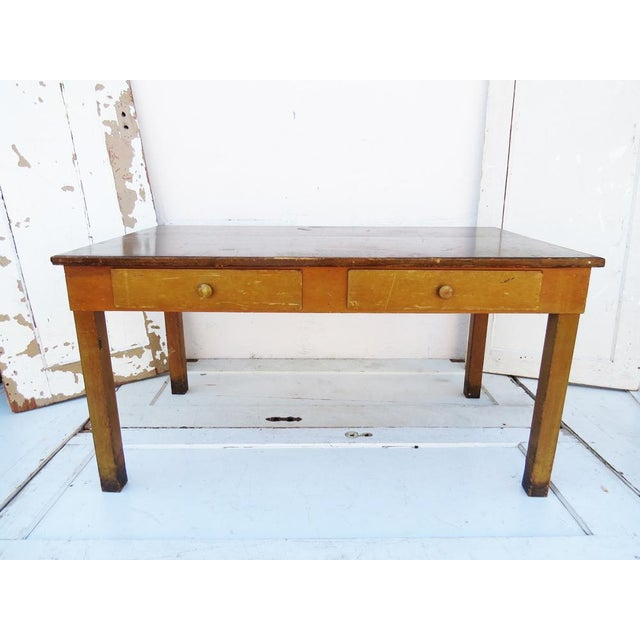 Vintage 1940's Academia Library Table / Desk - Image 2 of 5