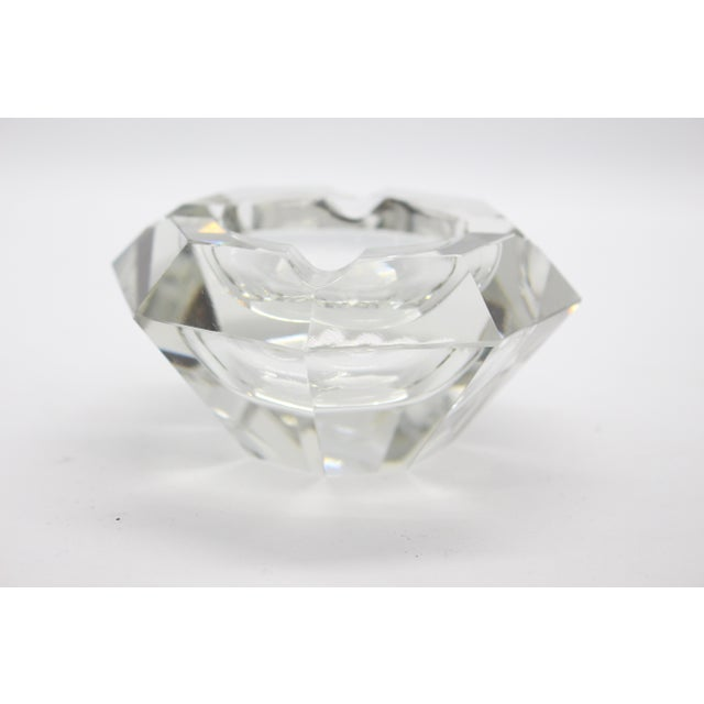 Geometric Lead Crystal Ashtrays - A Pair For Sale - Image 9 of 11