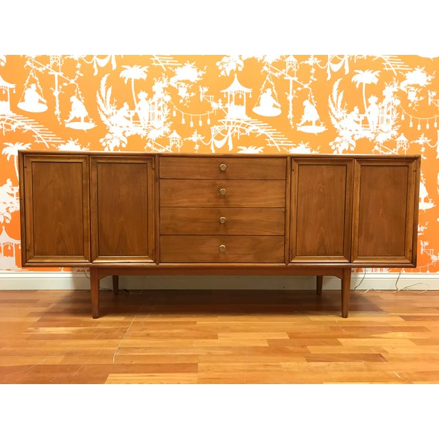 Gold 1960's Mid-Century Modern Drexel Declaration Credenza Buffet For Sale - Image 8 of 13
