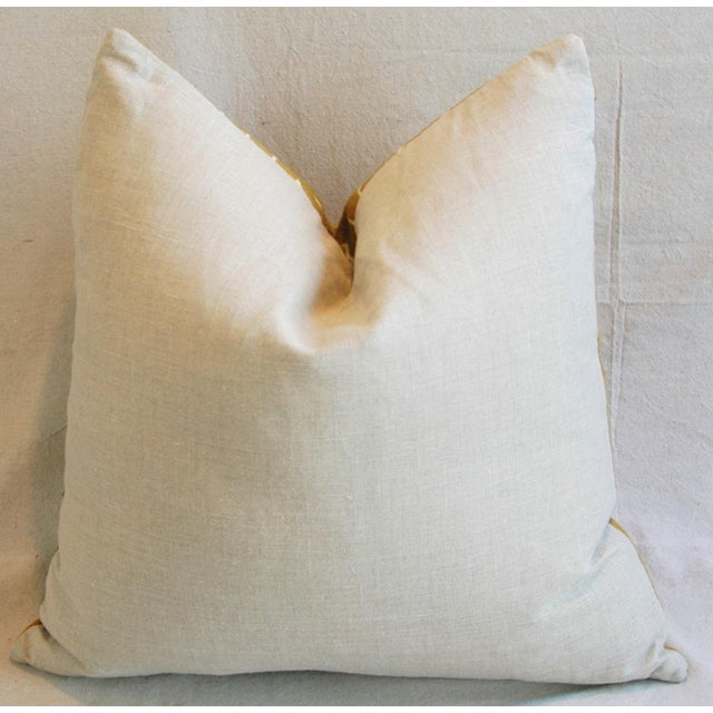 Handwoven Gold & Cream Tribal Feather & Down Pillow - Image 6 of 6